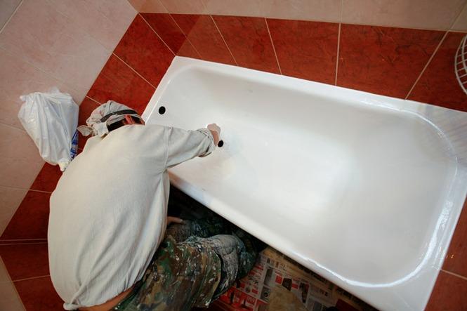 Эмалировка ванн жидким акрилом своими руками